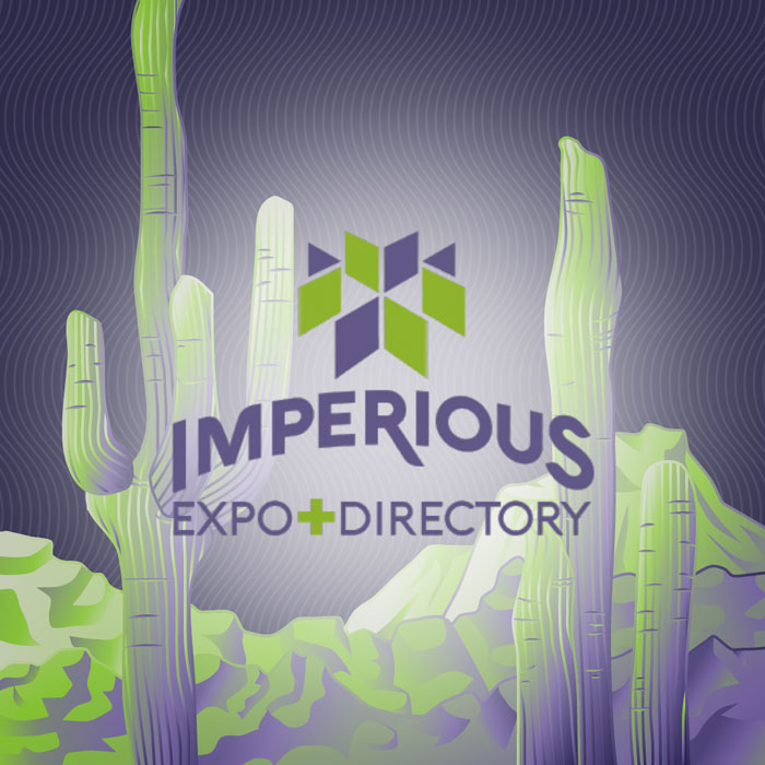 Imperious Expo Promo Art - Used as an Example of consistent brand identity in cannabis event planning
