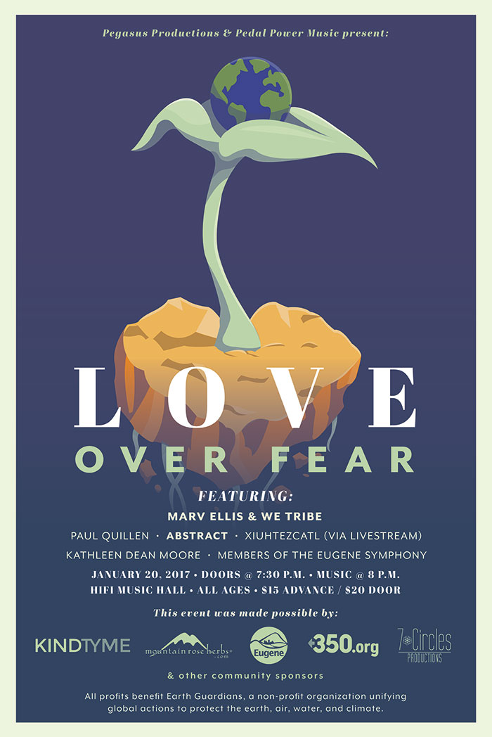Love Over Fear Cannabis Concert Poster - Cannabis Event Planning means choosing good design in your marketing