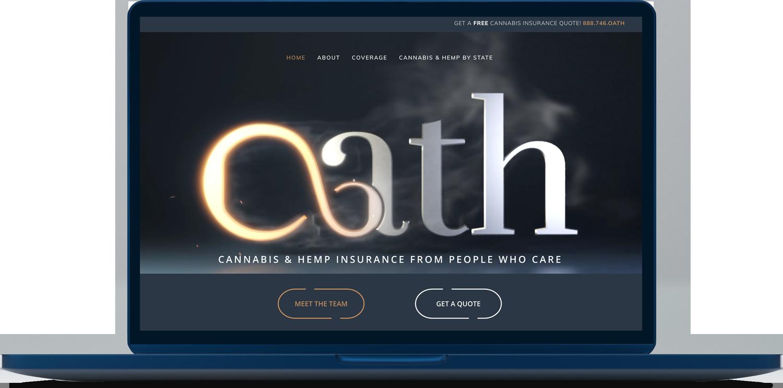 Oath cannabis & hemp insurance website