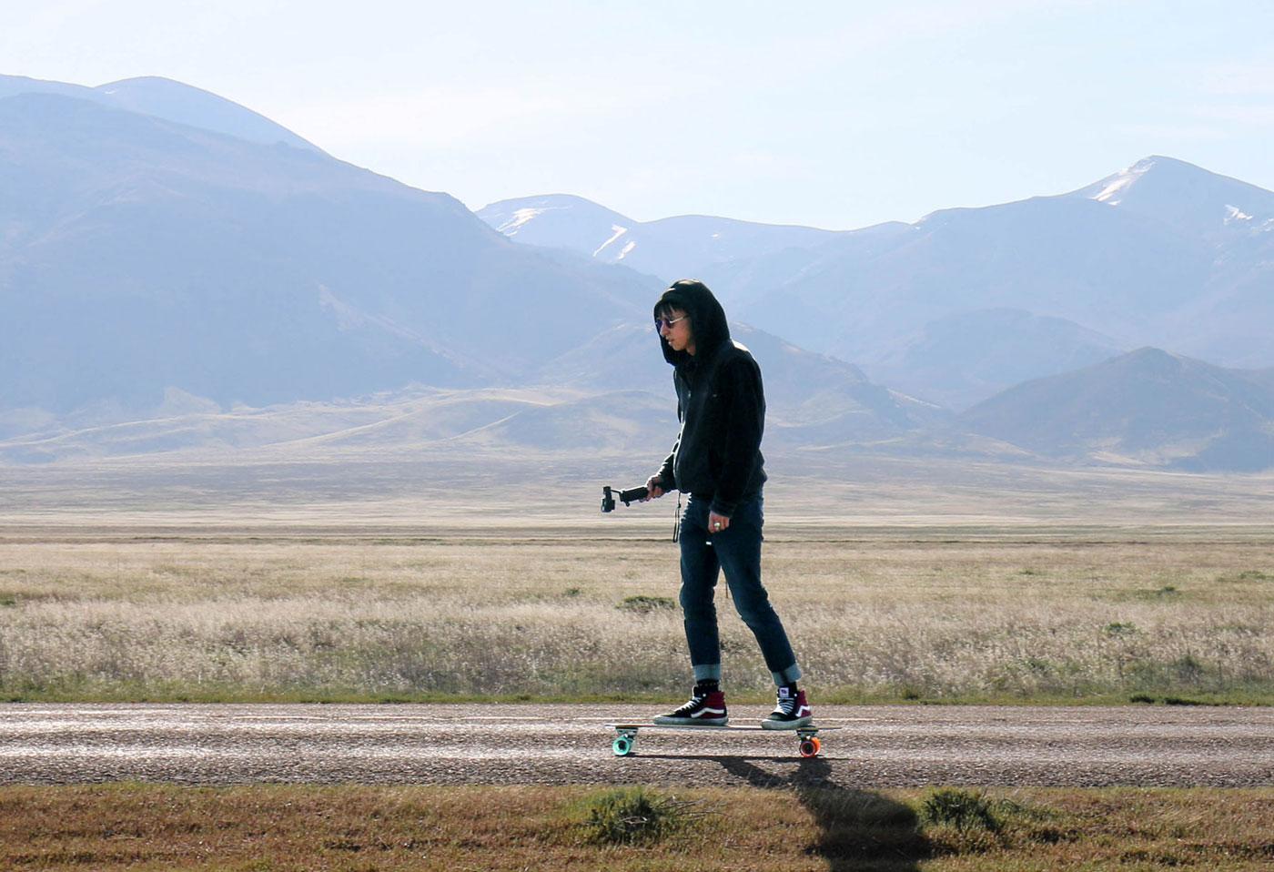 Sebastian Dean shooting video in the Nevada desert